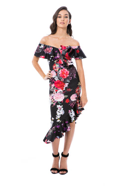 ALESSANDRA - BLACK FLORAL - GEORGY COLLECTION
