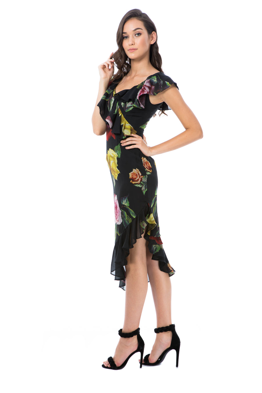 ALESSANDRA SILK - BLACK ROSE - GEORGY COLLECTION