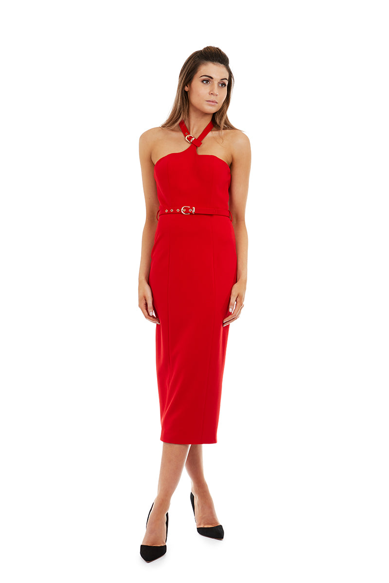 ATHENA DRESS - RED - GEORGY COLLECTION