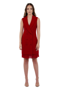 BELLA DRESS - RED - GEORGY COLLECTION