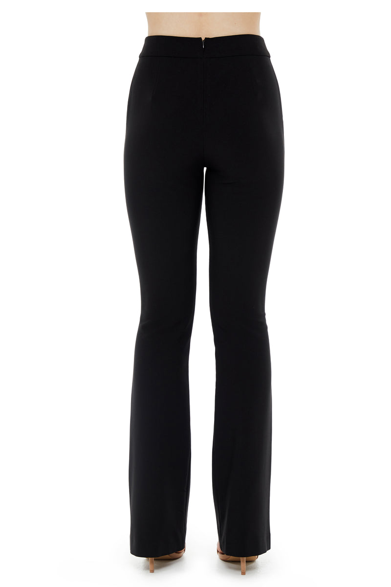 BETTINA ZIP PANT - BLACK - GEORGY COLLECTION