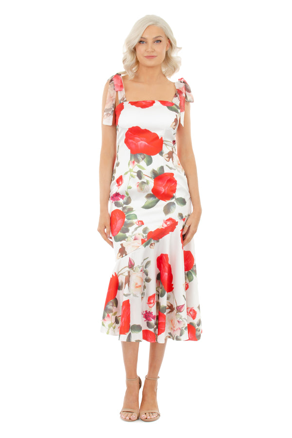 BIANCA DRESS - WHITE FLORAL - GEORGY COLLECTION