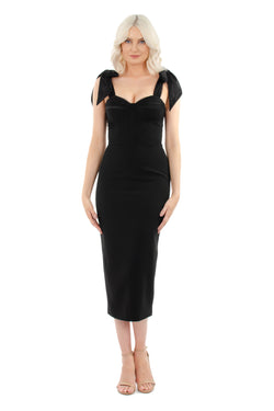 CHANTELLE LUXE DRESS - BLACK - GEORGY COLLECTION