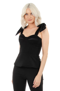 CHANTELLE LUXE TOP - BLACK - GEORGY COLLECTION