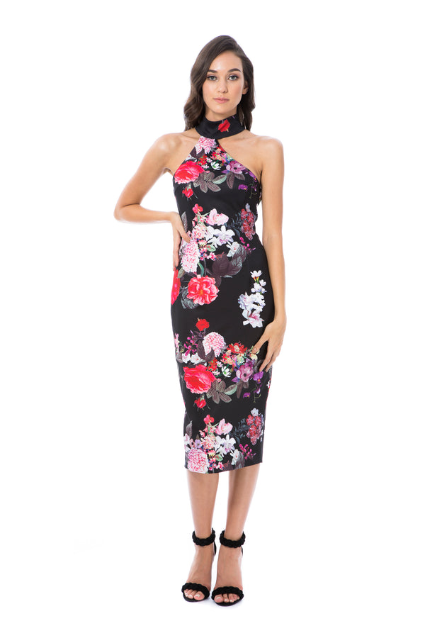 CLAUDIA - BLACK FLORAL - GEORGY COLLECTION