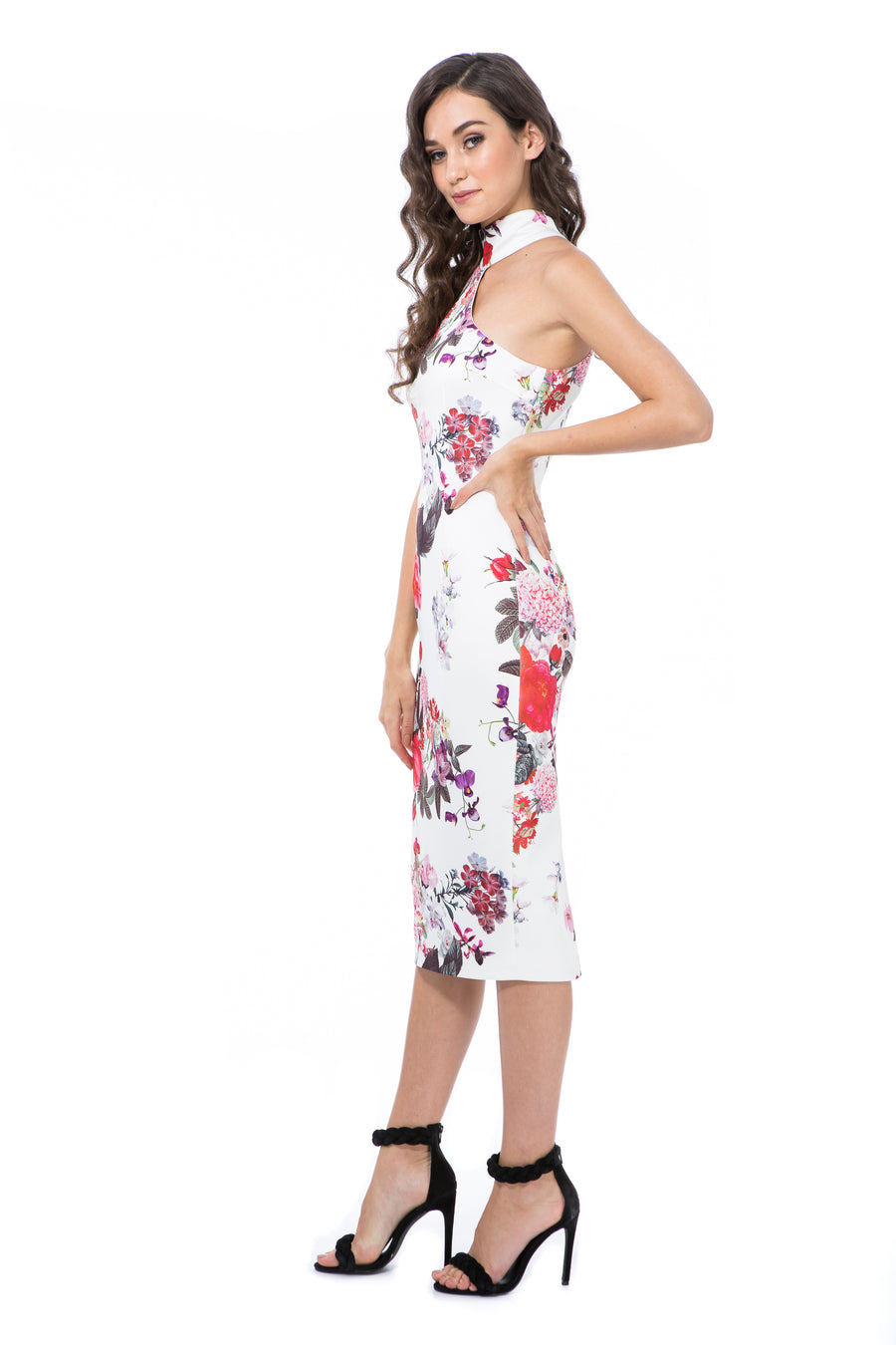 CLAUDIA - WHITE FLORAL - GEORGY COLLECTION