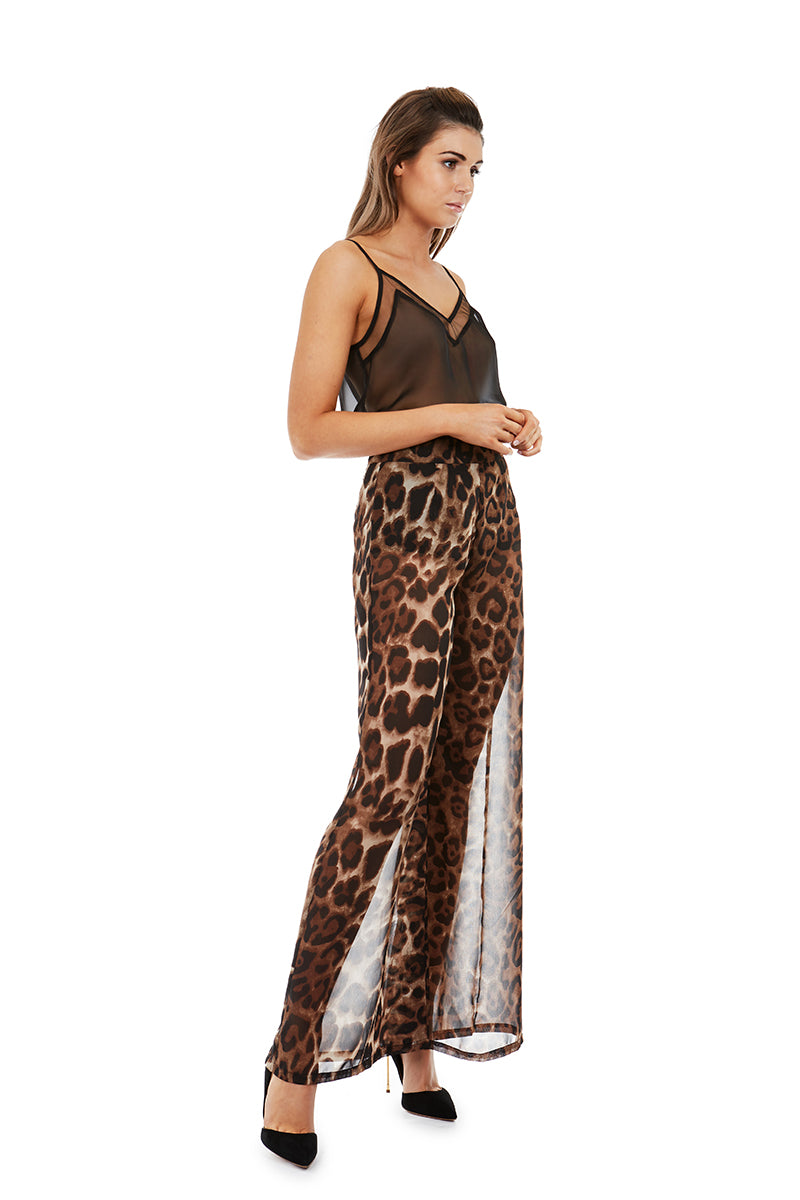 DIONN PANTS - LEOPARD - GEORGY COLLECTION