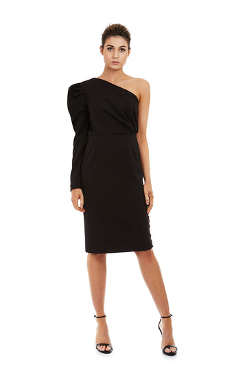 EVANGELINE DRESS - BLACK - GEORGY COLLECTION