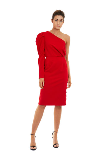 EVANGELINE DRESS - RED - GEORGY COLLECTION