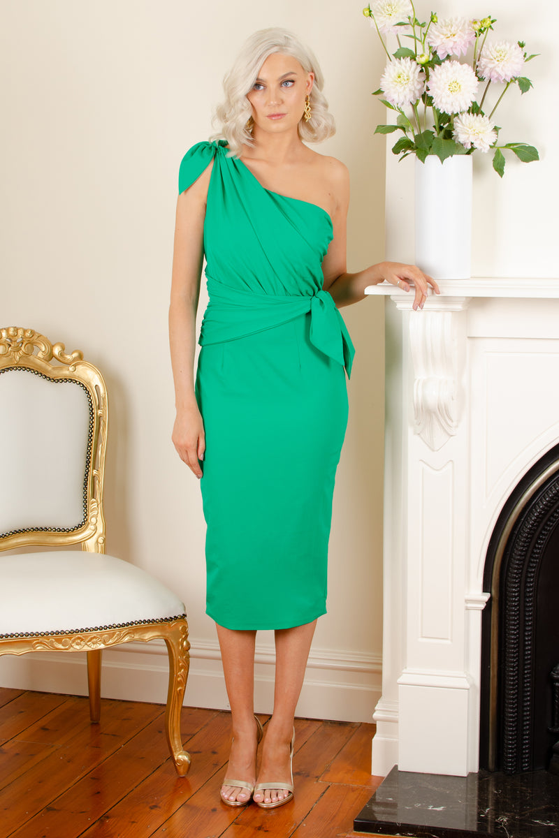 EVE DRESS - EMERALD GREEN - GEORGY COLLECTION