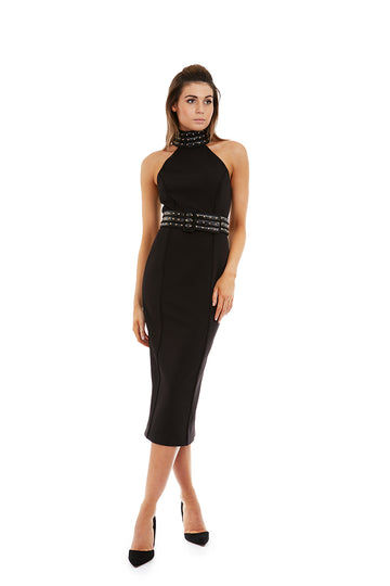 ELEKTRA DRESS - BLACK - GEORGY COLLECTION