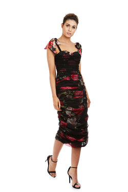 FLEUR DRESS - BLACK FLORAL - GEORGY COLLECTION