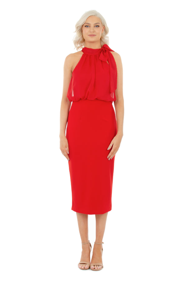 GEMMA DRESS - RED - GEORGY COLLECTION