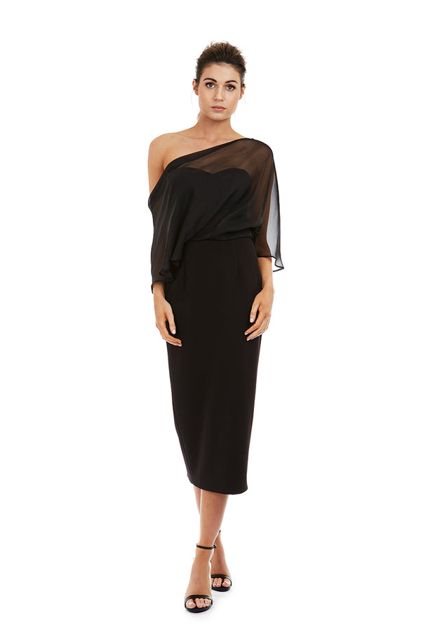 HOPE DRESS - BLACK - GEORGY COLLECTION