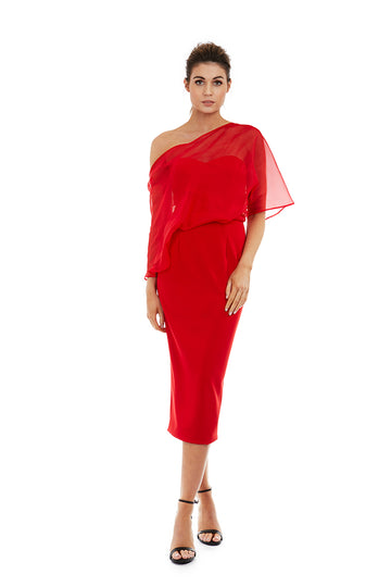 HOPE DRESS - RED - GEORGY COLLECTION
