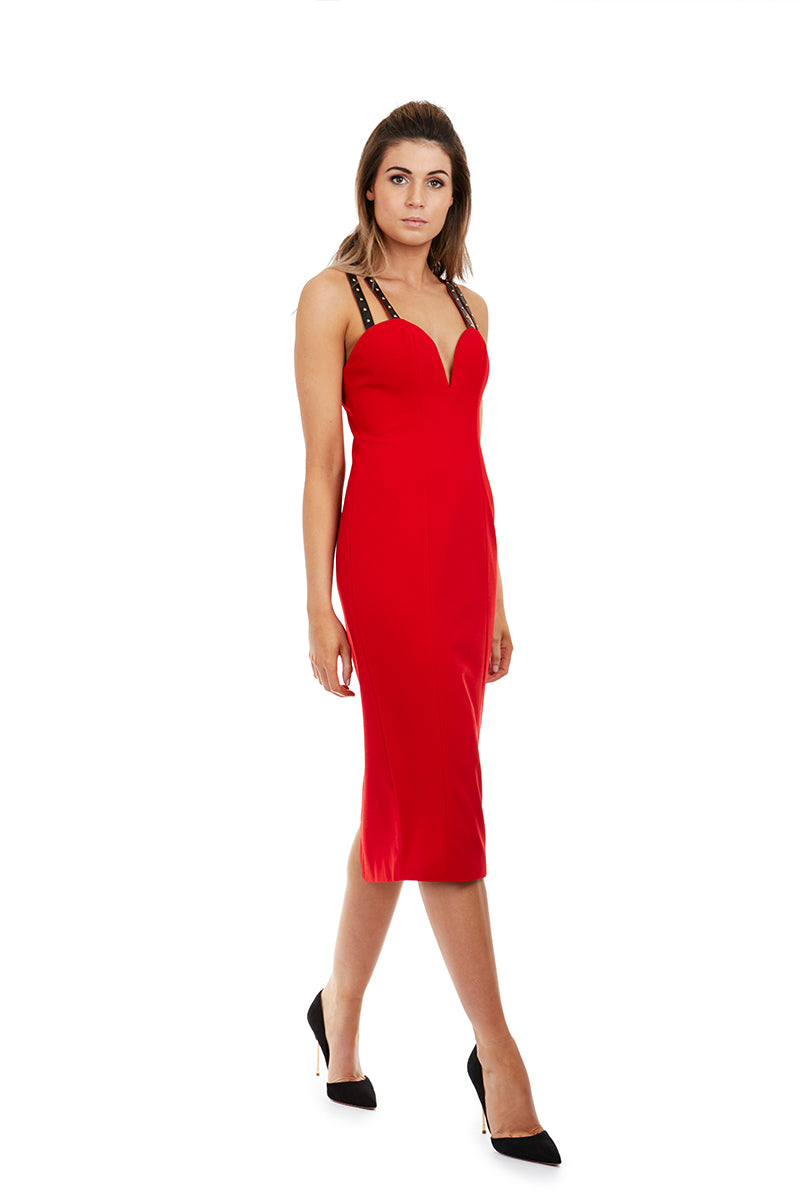 IMOGEN DRESS - RED - GEORGY COLLECTION