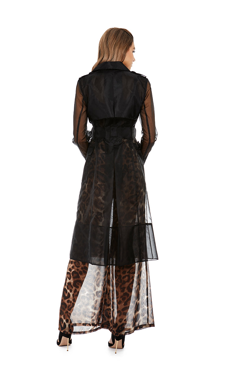 JACQUELINE TRENCH - BLACK - GEORGY COLLECTION