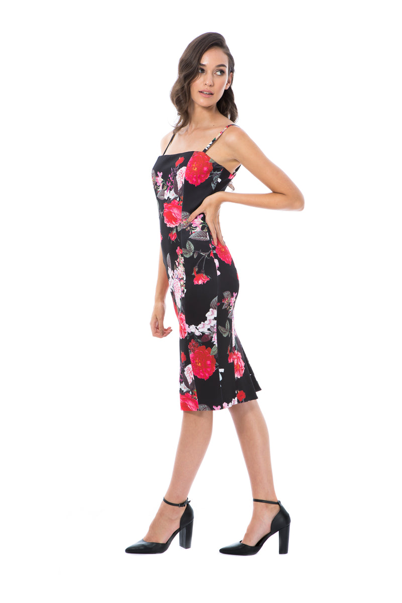 LILLY - BLACK FLORAL - GEORGY COLLECTION