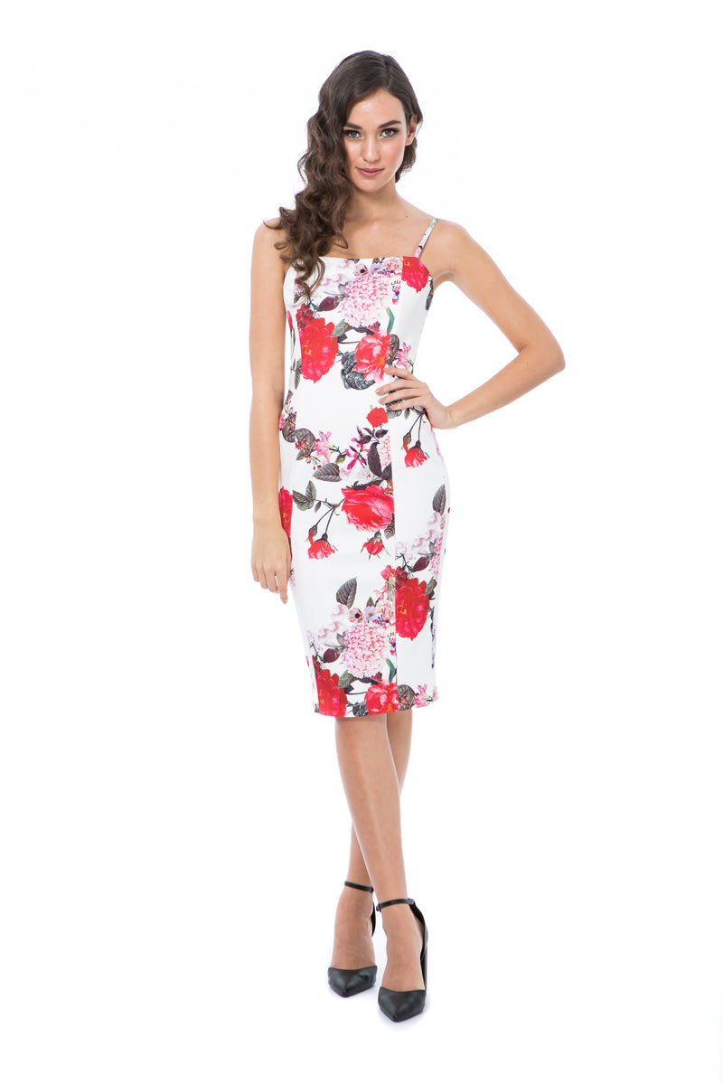 LILLY - WHITE FLORAL - GEORGY COLLECTION