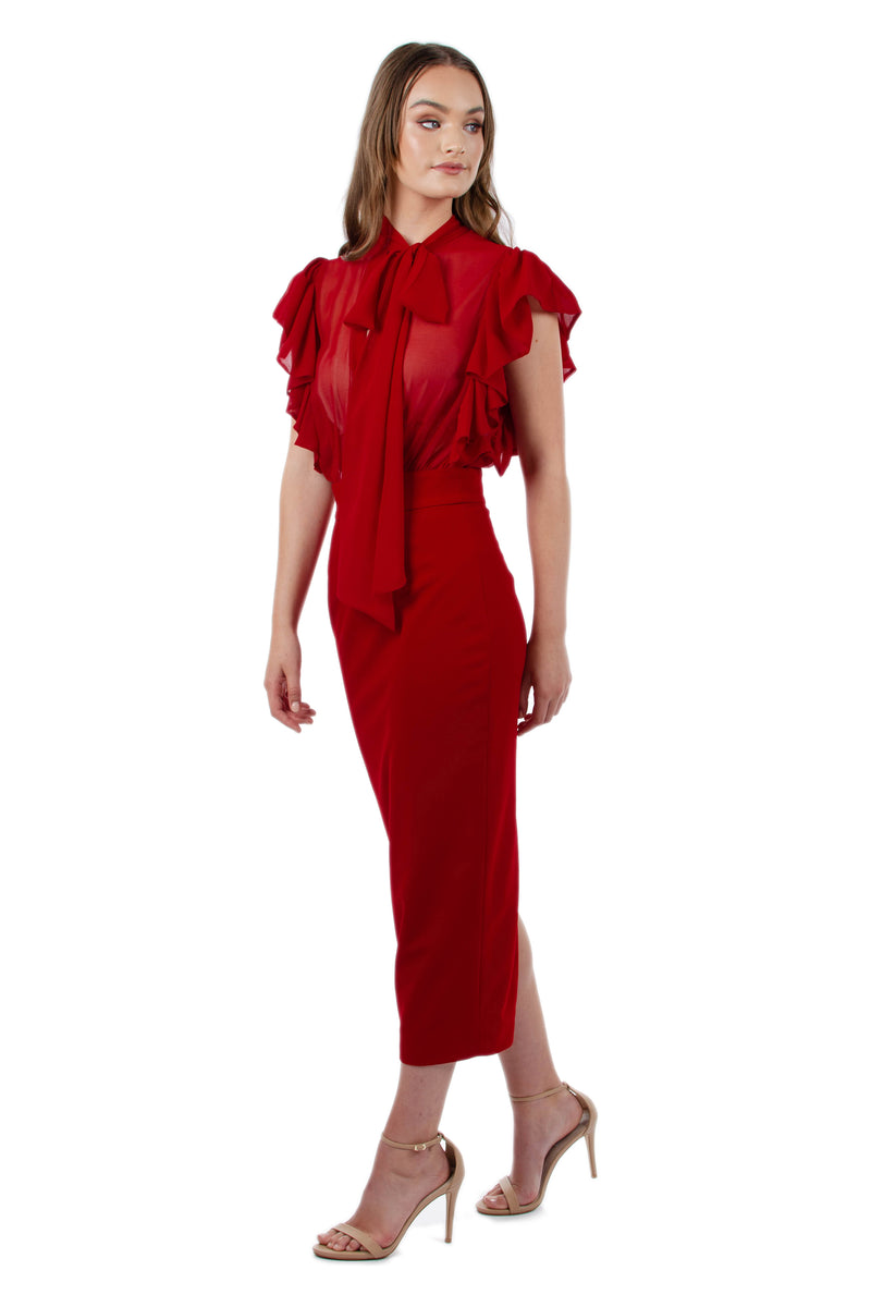 MARTINA DRESS - RED - GEORGY COLLECTION