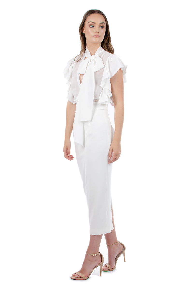 MARTINA DRESS - WHITE - GEORGY COLLECTION