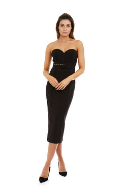 MELANIA DRESS - BLACK - GEORGY COLLECTION