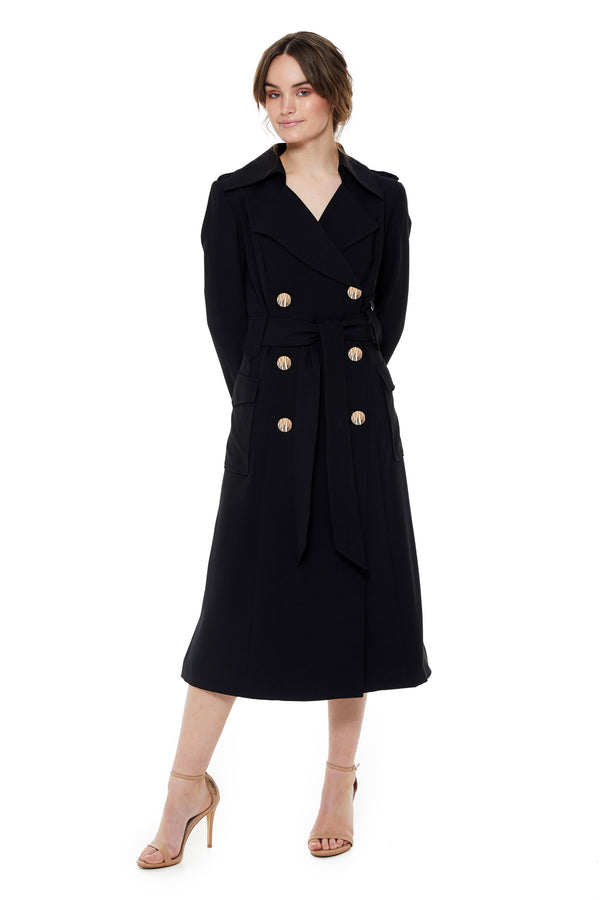 MILANA TRENCH - BLACK - GEORGY COLLECTION