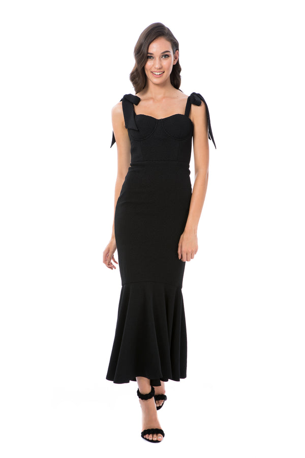 MIRABELLA GOWN - BLACK - GEORGY COLLECTION