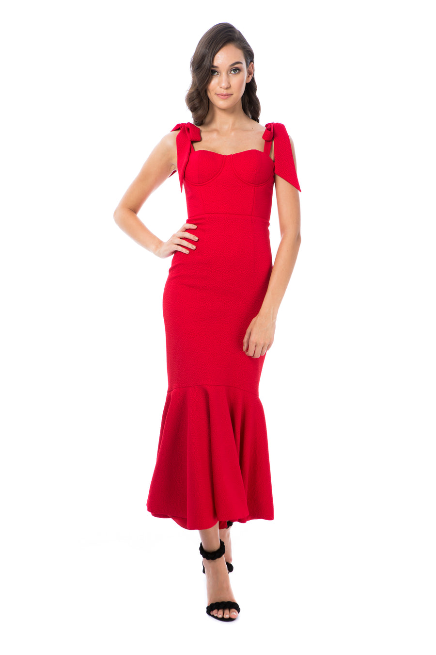 MIRABELLA GOWN - RED - GEORGY COLLECTION