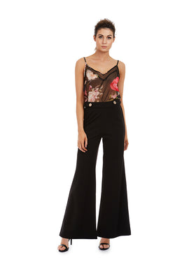 NICOLE CAMI - BLACK FLORAL - GEORGY COLLECTION