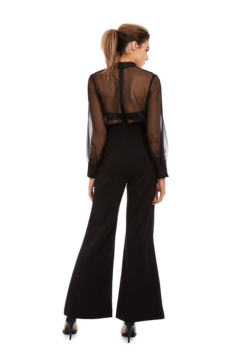 OLIVIA PANTSUIT - BLACK - GEORGY COLLECTION