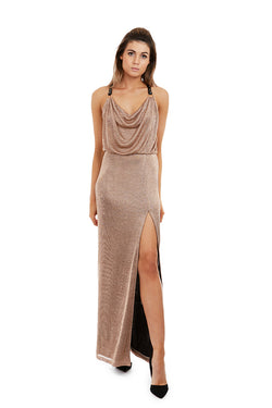 OPHELIA GOWN - GOLD - GEORGY COLLECTION