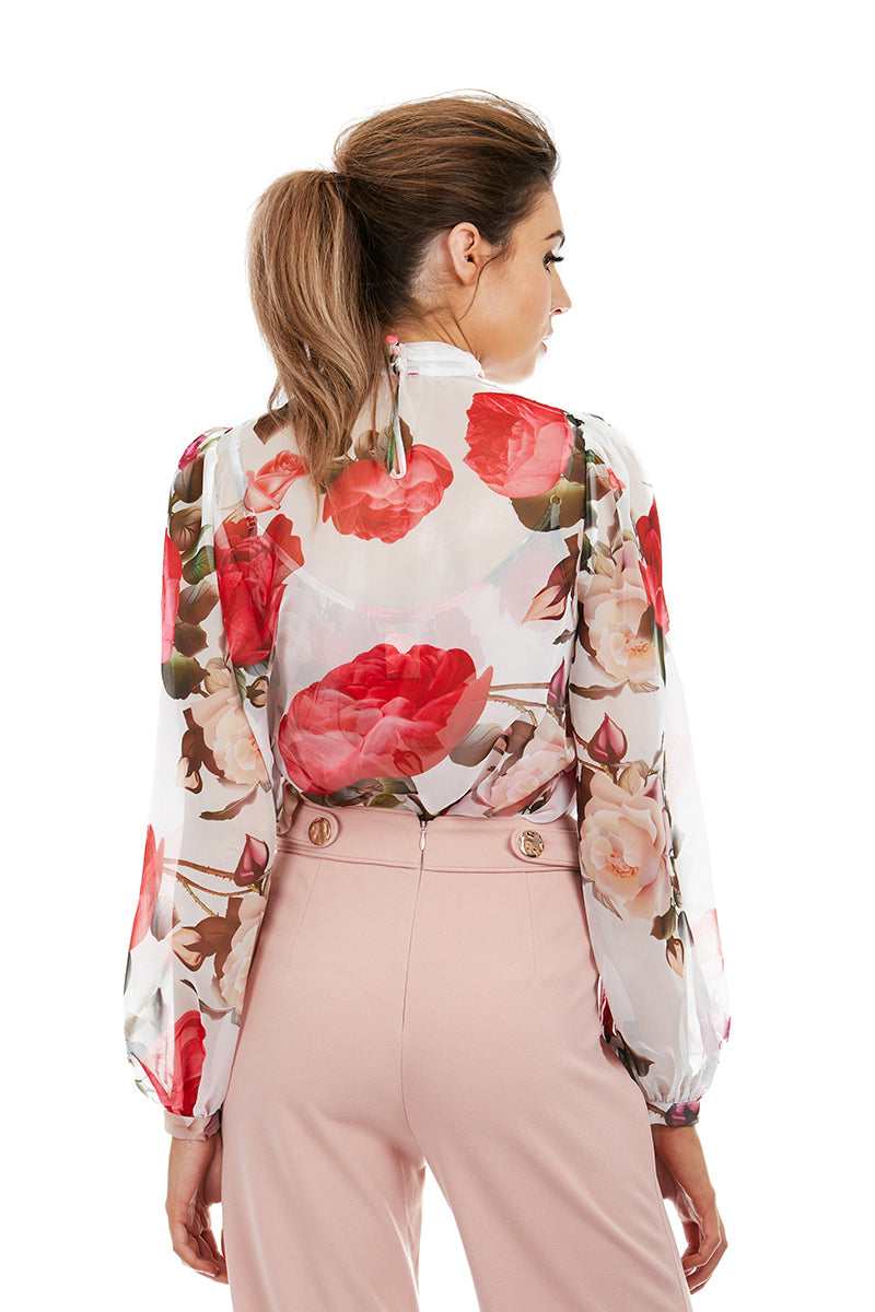 PARIS BLOUSE - WHITE FLORAL - GEORGY COLLECTION