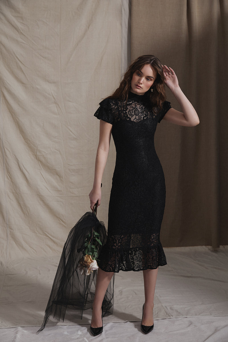 SELENE DRESS - BLACK - GEORGY COLLECTION