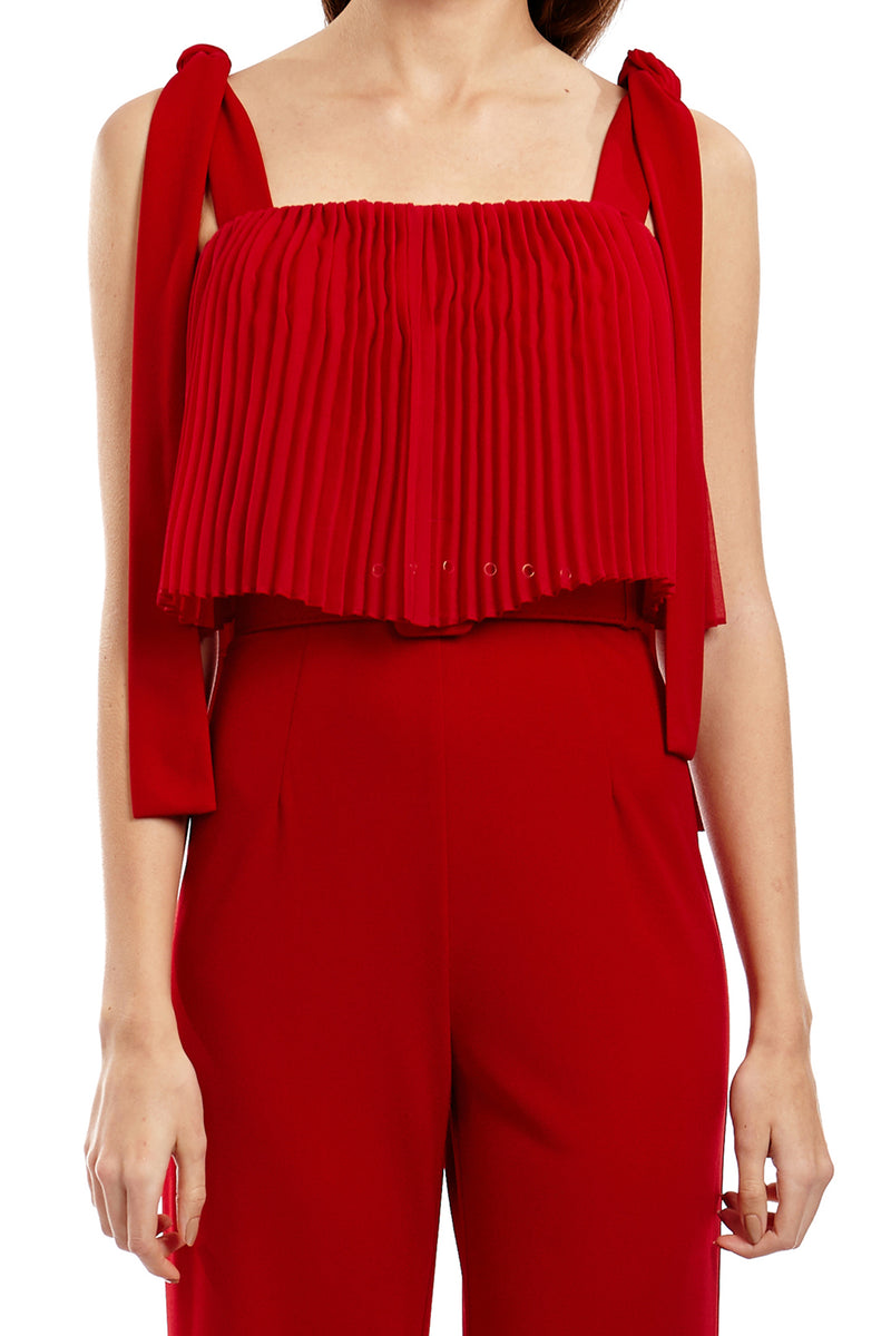 SAVANNAH PANTSUIT - RED - GEORGY COLLECTION
