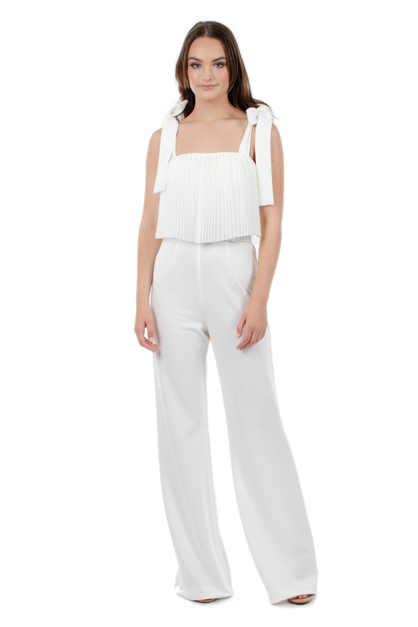 SAVANNAH PANTSUIT - WHITE - GEORGY COLLECTION