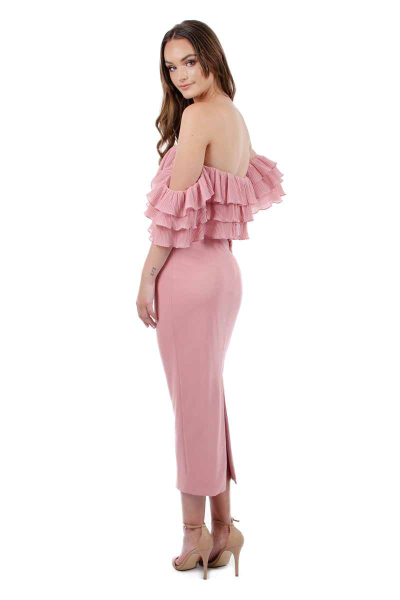 SEANNA DRESS - PINK - GEORGY COLLECTION