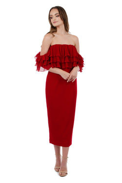 SEANNA DRESS - RED - GEORGY COLLECTION