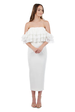 SEANNA DRESS - WHITE - GEORGY COLLECTION