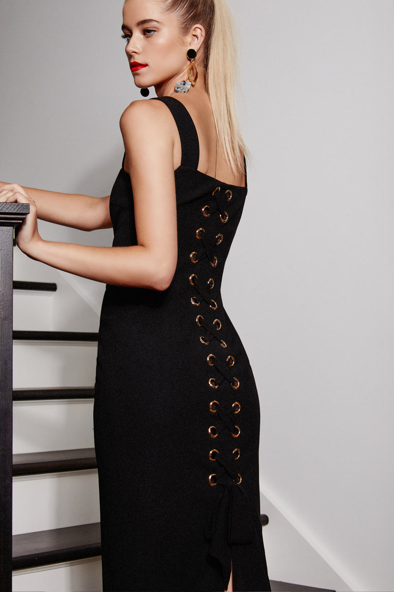 SVETLANA DRESS - BLACK - GEORGY COLLECTION
