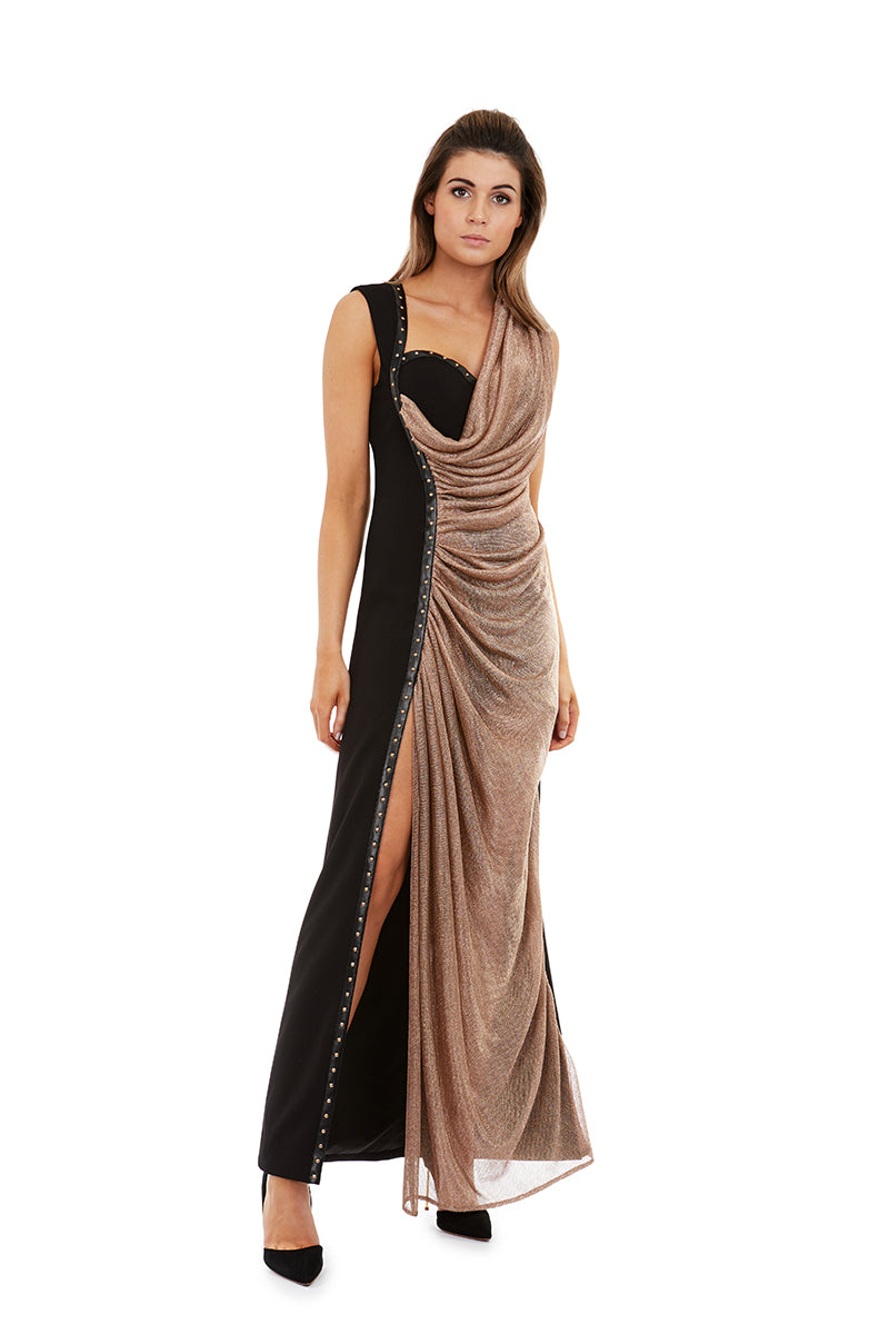 XENIA GOWN - GOLD - GEORGY COLLECTION