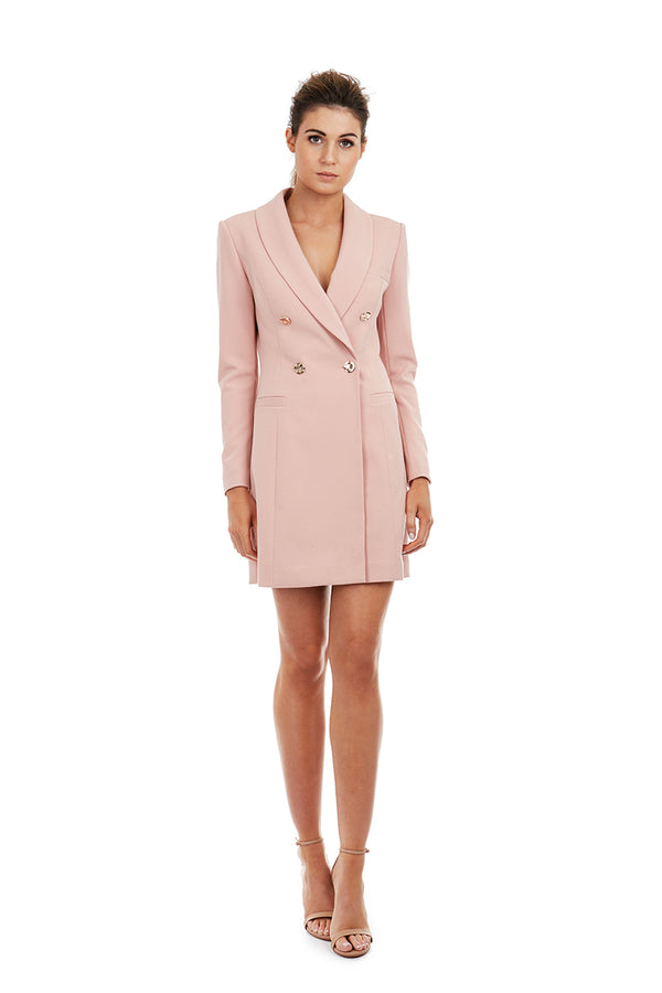 YVONNE BLAZER DRESS - PINK - GEORGY COLLECTION