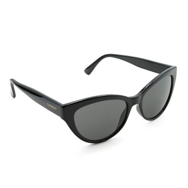 ARIANA SUNGLASSES - BLACK - GEORGY COLLECTION