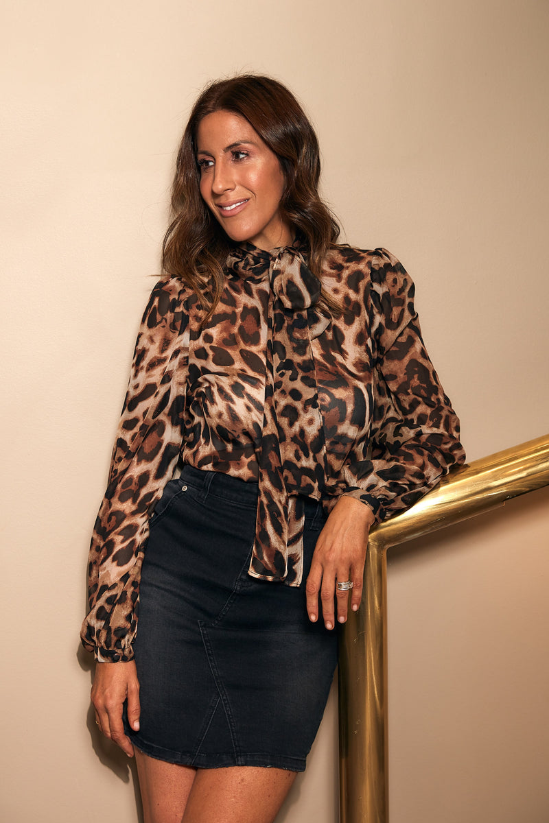PARIS BLOUSE - LEOPARD - GEORGY COLLECTION
