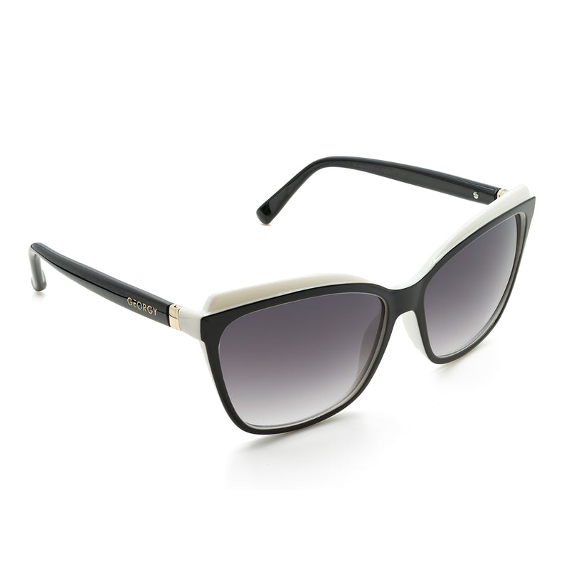 MADISON SUNGLASSES - BLACK/WHITE - GEORGY COLLECTION