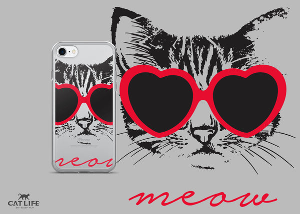 Meow Heart - iPhone 7/7 Plus Phone Case