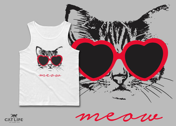 Meow Heart - Unisex Classic Tank Top