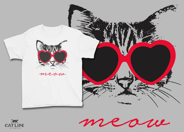 Meow Heart - Youth Short Sleeve T-Shirt