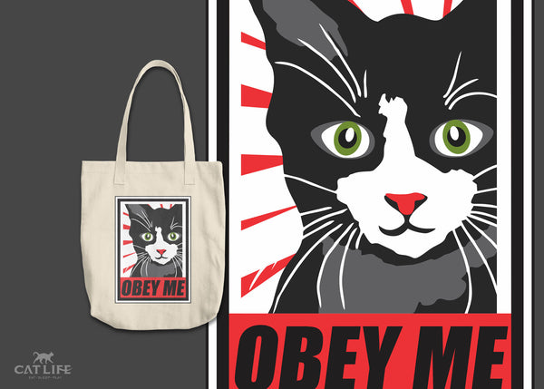 Obey Me - Round Tote