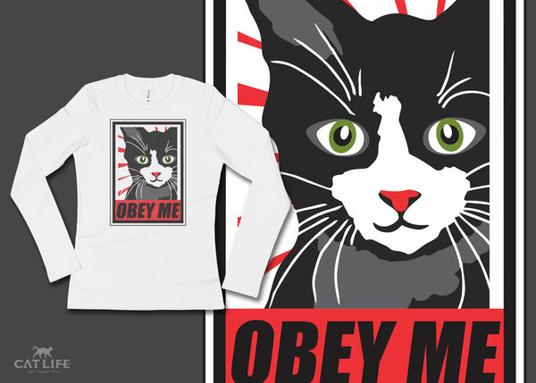 Obey Me - Womens Long Sleeve T-Shirt